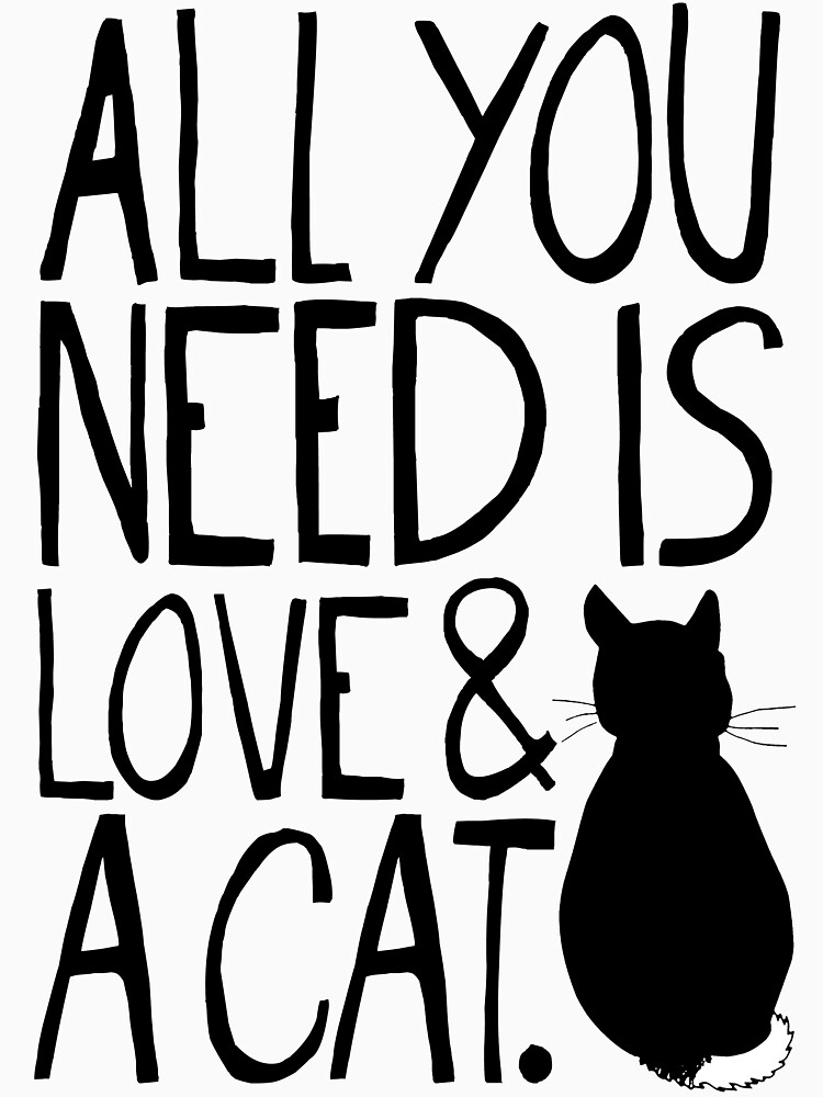 All You Need Is Love and A Cat | Women's Fitted Scoop T-Shirt