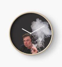 Elon Musk Smokes Clock