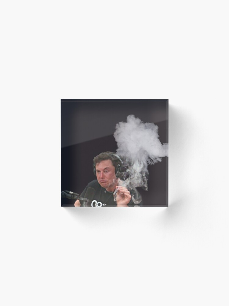 Alternate view of Elon Musk Smokes Acrylic Block