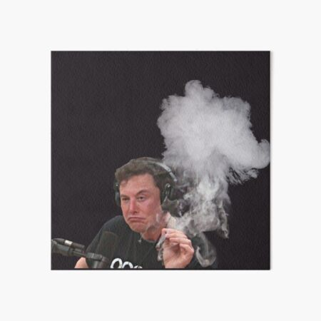 Elon Musk Smokes Art Board Print