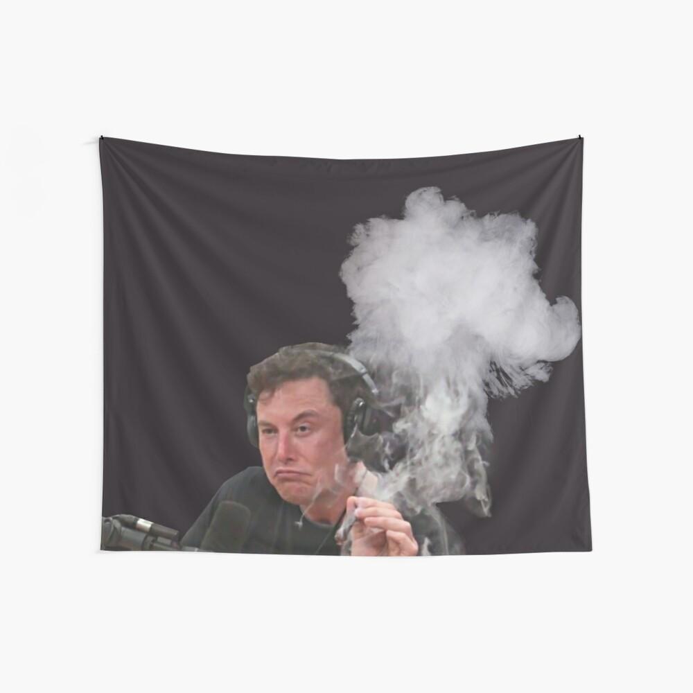 Elon Musk Smokes Wall Tapestry