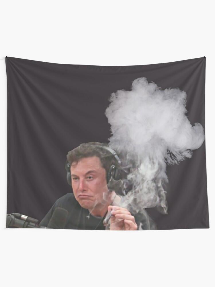 Alternate view of Elon Musk Smokes Tapestry