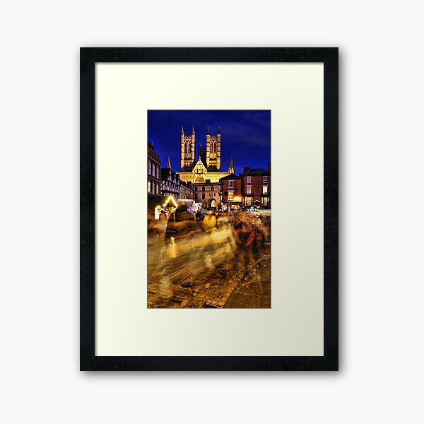 Lincoln Christmas Market Framed Art Print