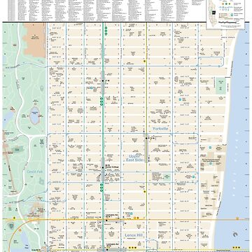 New York City - Upper East Side Map - HD by superfunky