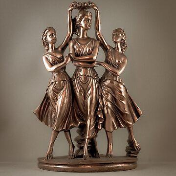 3 Bronzed Nymphs by taspaul