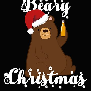Christmas gift bear Christmas present by NadjaDesigns