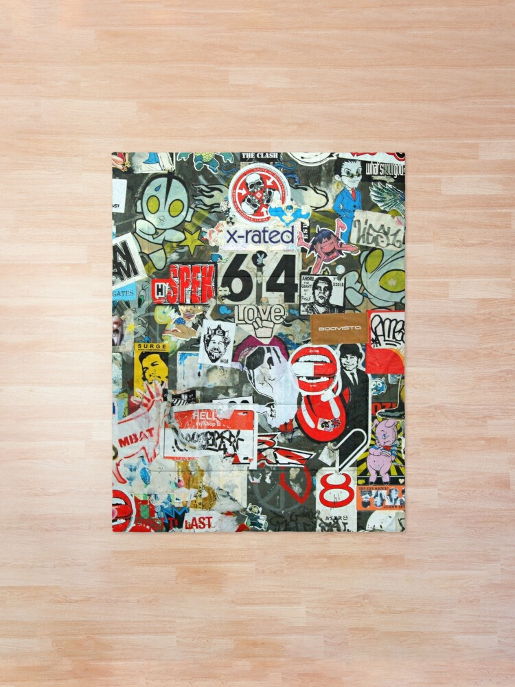 Alternate view of Collages and graffiti Comforter