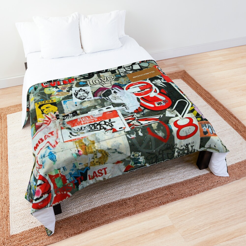 Collages and graffiti Comforter