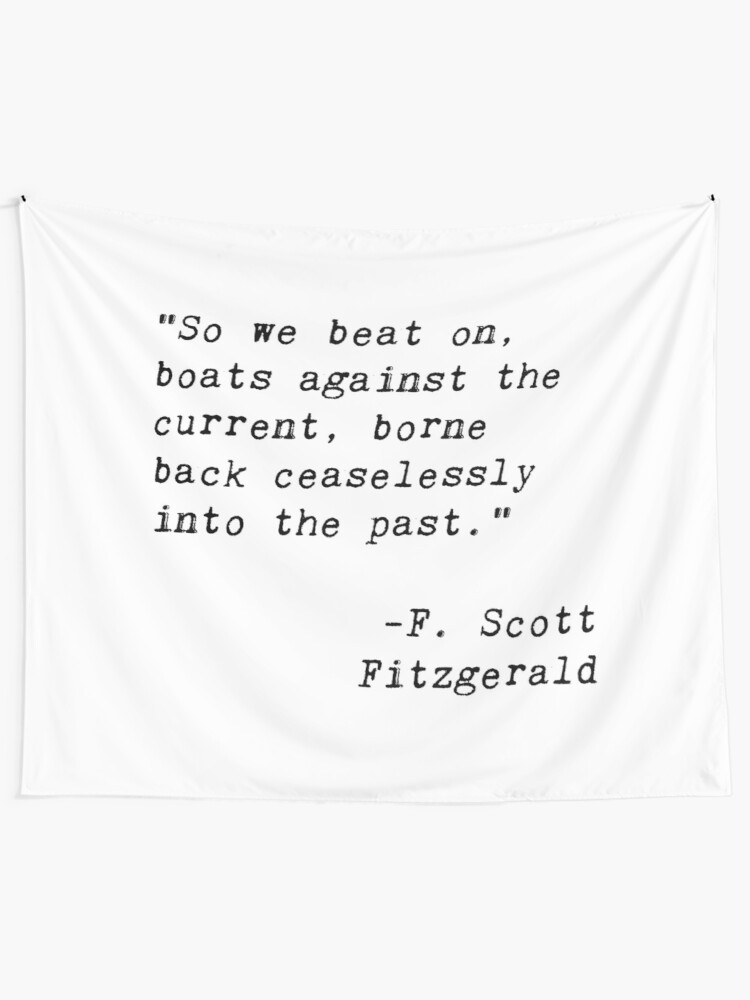 The Great Gatsby quote tapestry   Wall Tapestry