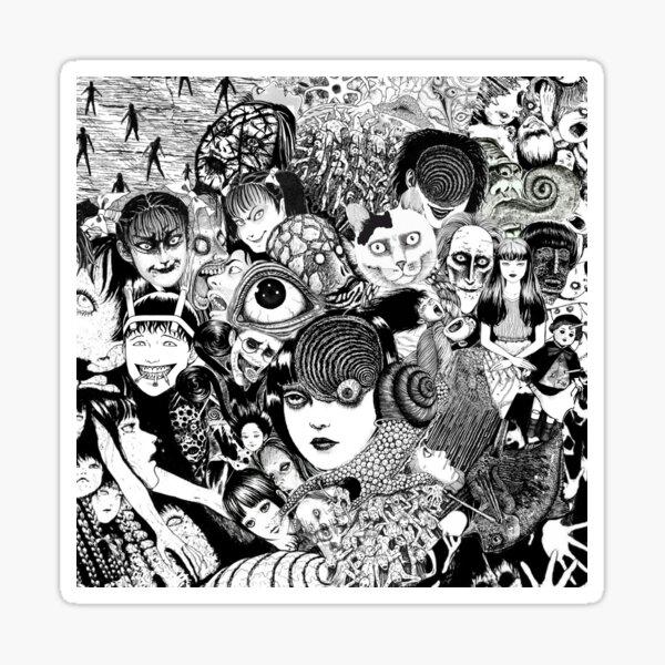 junji ito collage Sticker