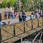 Ponts des Arts Footbridge, Paris, France by Elaine Teague