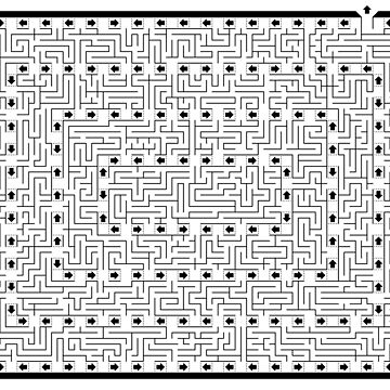 Maze & Labyrinth with One Way Arrows by gorff
