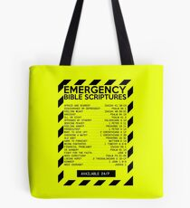 Emergency Bible Scriptures Numbers (New and Improved) Tote Bag