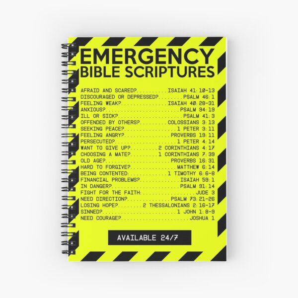 Emergency Bible Scriptures Numbers (New and Improved) Spiral Notebook