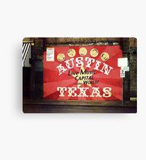 Austin Live Music Canvas Print