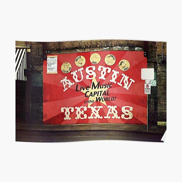 Austin Live Music Poster