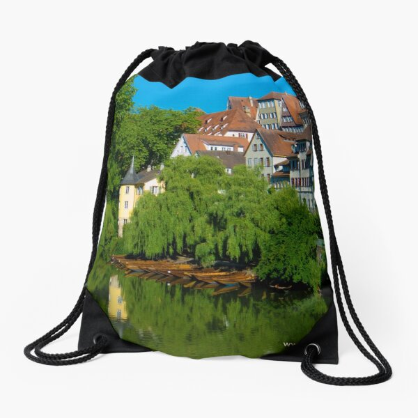 Höderlin Tower, Tübingen, Germany Drawstring Bag
