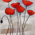 Poppies Painting by Lutz Baar