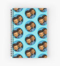 Caleb and Sophia (round blue frame) Spiral Notebook