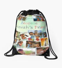 Become Jehovah's Friend - Caleb and Sophia Snapshots Drawstring Bag