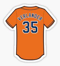 Justin Verlander Jersey Sticker
