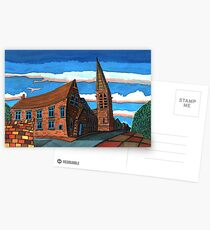 181 - UNITED REFORMED CHURCH, BLYTH (GOUACHE) Postcards