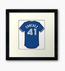 Aaron Sanchez Jersey Framed Print