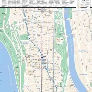 New York City - Washington Heights Map - HD by superfunky