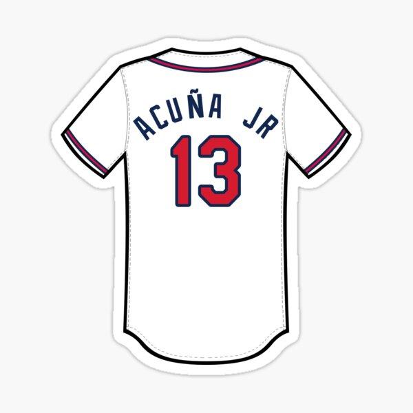 Ronald Acuna Jr Jersey Sticker