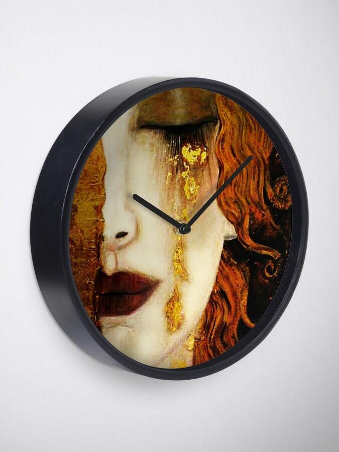 Alternate view of Klimt Golden Tears Clock