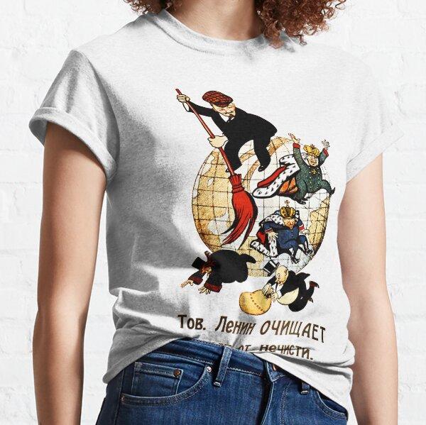 Le camarade Lénine nettoie le monde du mal T-shirt classique