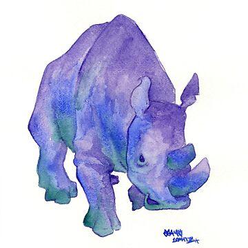 Northern White Rhinoceros by jojoseames