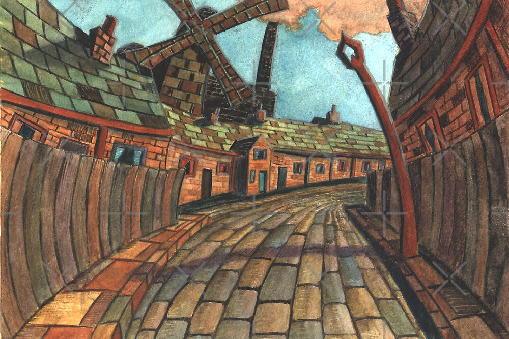 165 - HODGSON'S MILL, BLYTH (2nd Version) - (WATERCOLOUR)  by BLYTHART