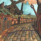 165 - HODGSON'S MILL, BLYTH (2nd Version) - (WATERCOLOUR)  by BLYTHART