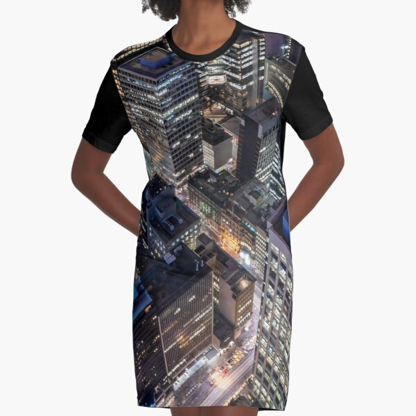 Hot in the City Graphic T-Shirt Dress