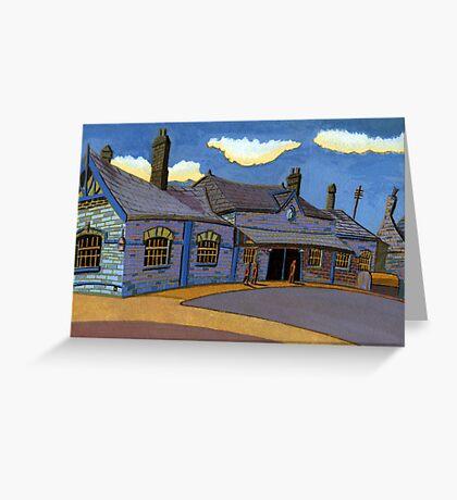 178 - OLD RAILWAY STATION, BLYTH (GOUACHE) Greeting Card