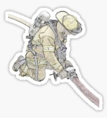 Firefighters are Real Heroes, Image 3 Sticker
