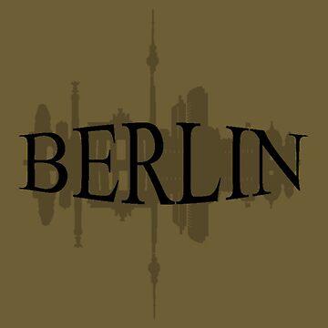 Berlin Word Cityscape Logo by Linkbekka