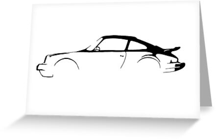 Porsche 911 Silhouette  by The Official  Clarkson, Hammond & May Store