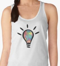 lightbulb electrical watercolor Women's Tank Top