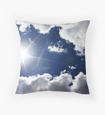 African Sky Blue Throw Pillow
