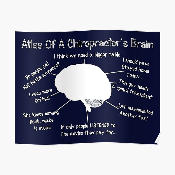 Funny Chiropractor S Thoughts Poster By Gailg1957 Redbubble