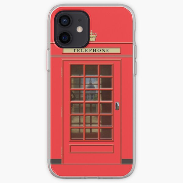 British Red Phone box with St Pauls iPhone Soft Case