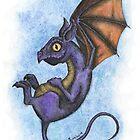 Flying little Dragon Beastie by Erika Rabie
