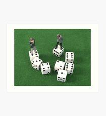 Poker Dice Art Print