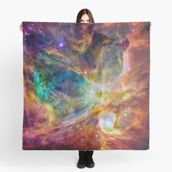 Where the stars are born colorful Orion painting Scarf