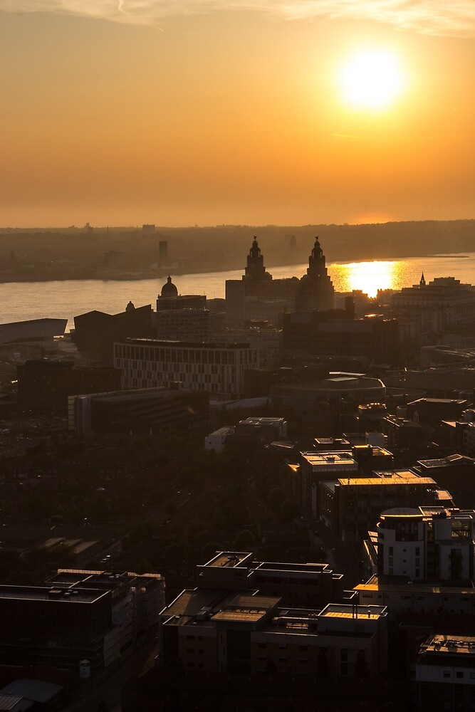 Liverpool from the top of the cathedral by Paul Madden