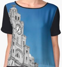 Royal Liver Building Liverpool Chiffon Top