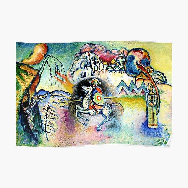 Kandinsky - Horseman, abstract art Poster