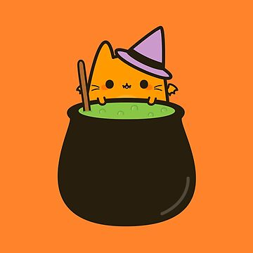 Cat bat with cauldron by peppermintpopuk